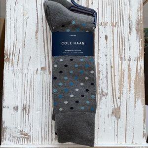 Cola Haan Crew Socks, 3-Pair, NWT